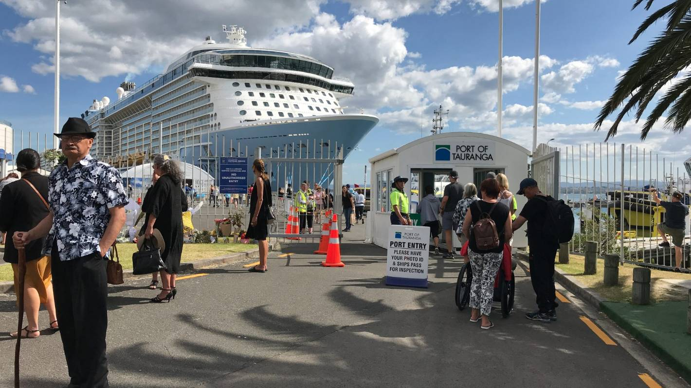 Ocean liner to stay in Tauranga until police finish its investigation