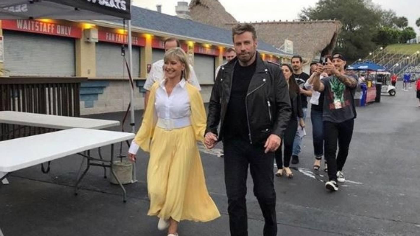 Grease Lightning! Olivia Newton-John and John Travolta reunite