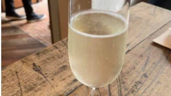 The pour of Prosecco that got a patron wound up on Lazy Susan.