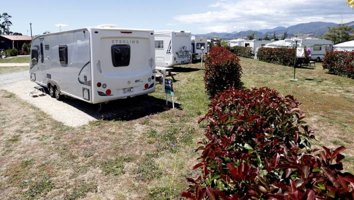 There is space for 30 of the static caravans at the Queen Street Holiday Park in Richmond.