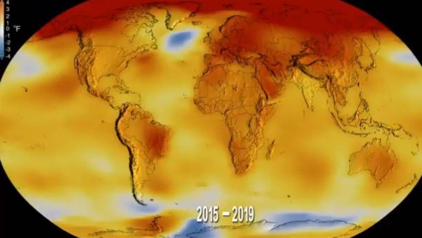 Fever chart: Earth had its hottest decade on record in 2010s