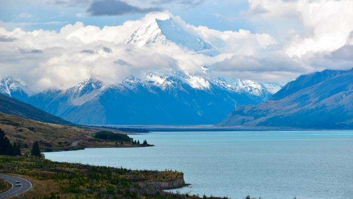 Lake Pukaki near Twizel is an area of outstanding natural beauty.