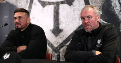 Toronto Wolfpack head coach Brian McDermott (R) will give star signing Sonny Bill Williams time to transition back to ...