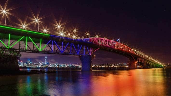 Auckland's Harbour Bridge will light up for Waitangi Day.