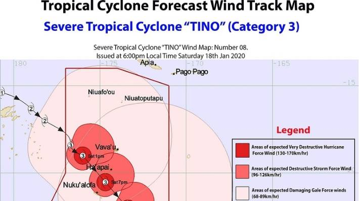 Roads and crops damaged in Tonga by Cyclone Tino | Stuff.co.nz