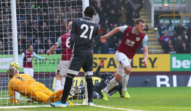 Premier League: Chris Wood scores in dramatic win by Burnley over former club Leicester