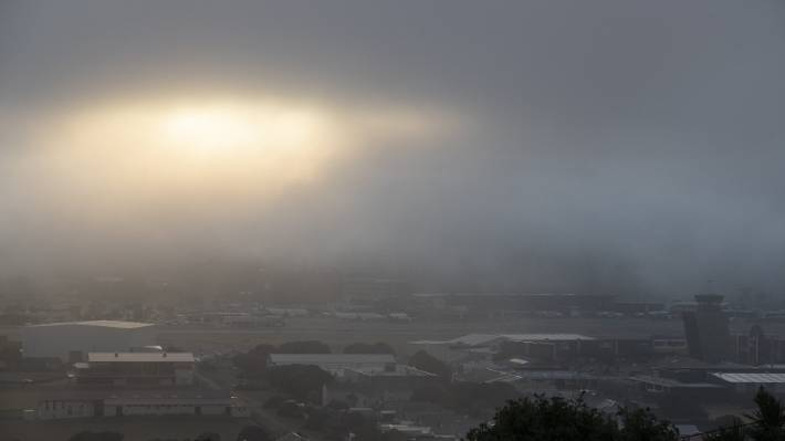 Fog is causing flight diversions at Wellington Airport.
