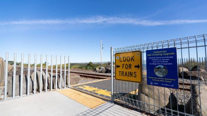 Four railway crossings along the Coastal Walkway will be closed periodically over the next couple of months as they are upgraded.