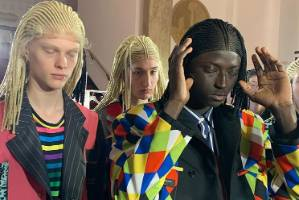 The hairstylist for Comme Des Garcons has apologised for putting models in cornrow wigs.
