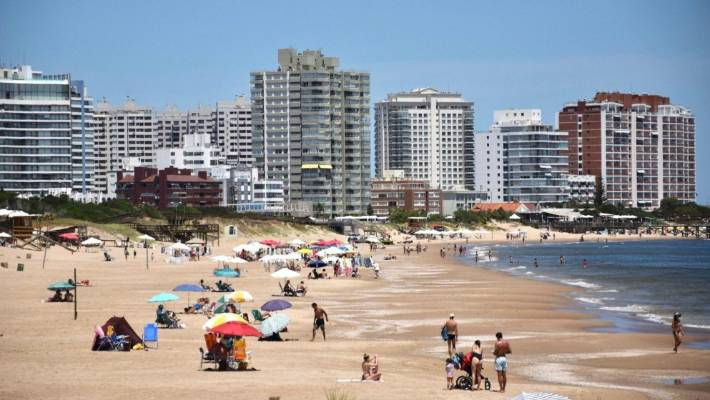 Punta del Este  on Uruguay's Atlantic Coast in January. South America had its second warmest January on record last month.