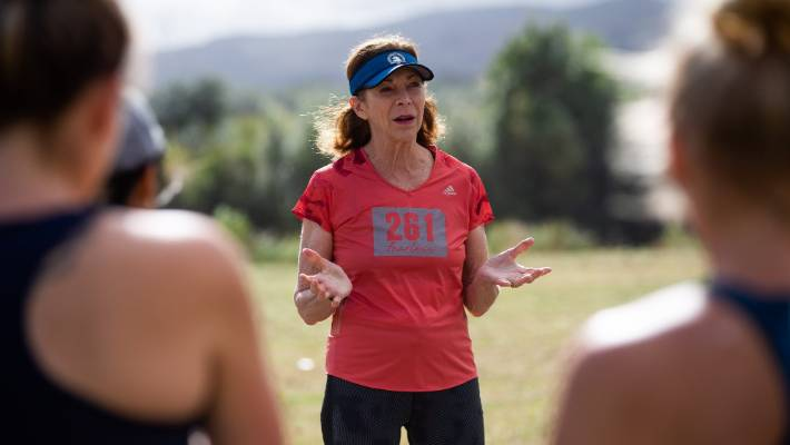 Kathrine Switzer offers advice and inspiration at a 261 Be Fearless and Be Free event in Palmerston North.