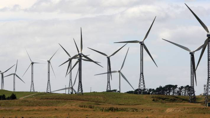 The Tararua Wind Farm turbines are still going strong after 20 years (file photo).