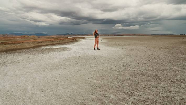 Having visited the salt flats in Bolivia, Stuff reporter Sophie Trigger didn't think she'd see something similar in Seddon.