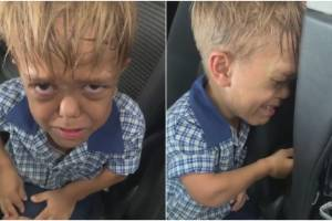 Yarraka Bayles shared a video of her son crying hysterically after school after being bullied.