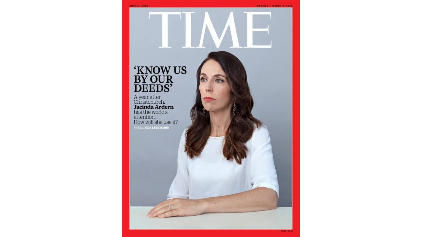 Prime Minister Jacinda Ardern features on Time Magazine cover