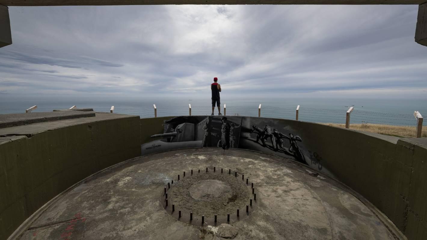 Quake - damaged World War 2 gun emplacements reopened after facelift