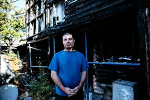 Ian McClue is selling his longtime family home in Kingsland, central Auckland a year after it was badly damaged by a fire.