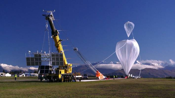 The balloon is 532,000 cubic metres in size when fully inflated.