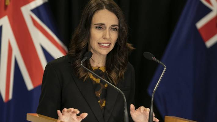 Prime Minister Jacinda Ardern at the coronavirus press conference on Wednesday where she reiterated people need to stay home.