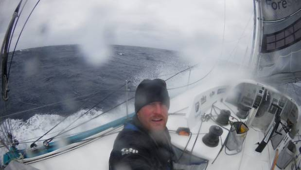 Inspirational Kiwi sailor Conrad Colman on board the Foresight Natural Energy. He is the first Kiwi to complete the ...