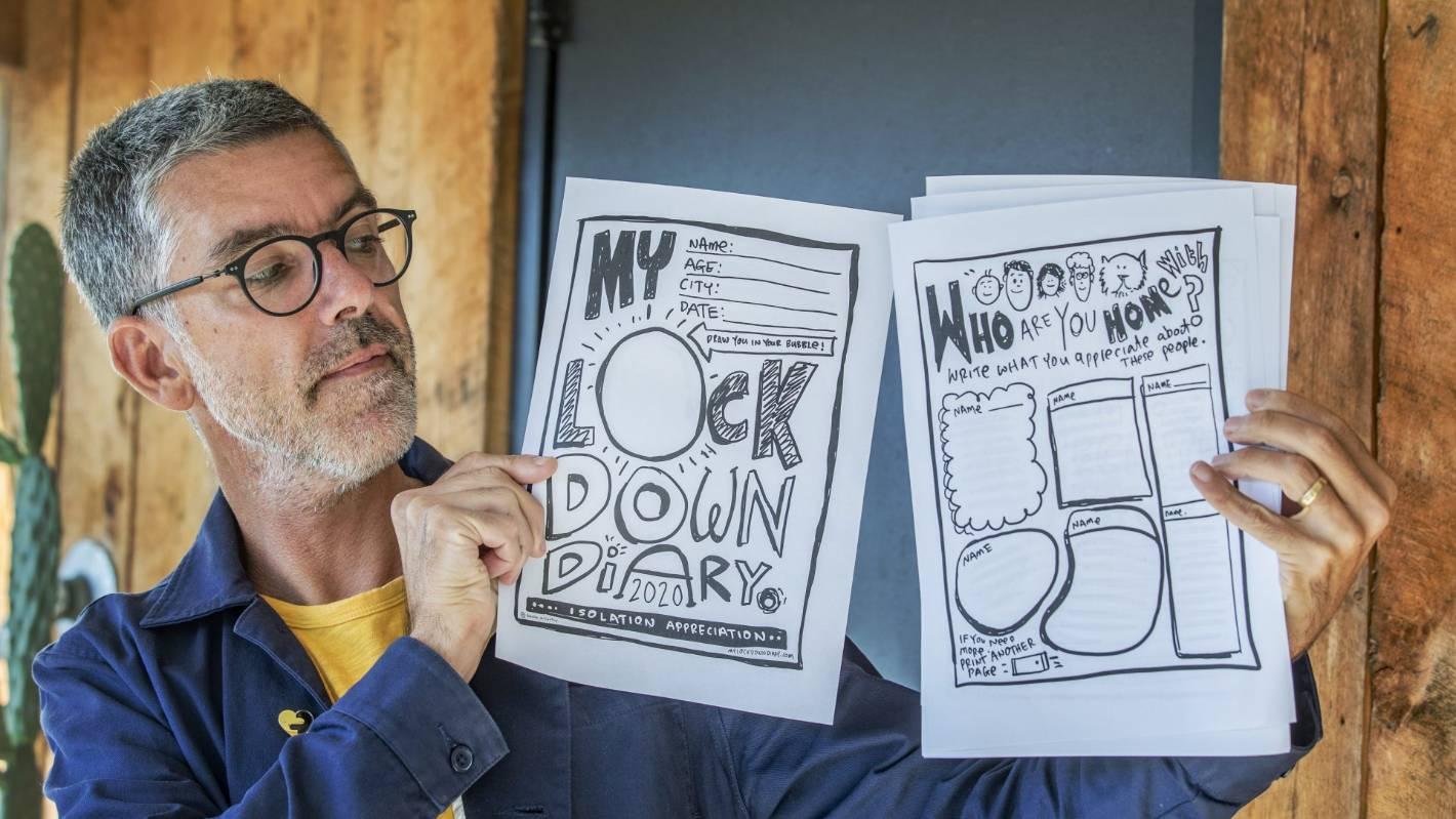 Christchurch artist makes lockdown diary for children