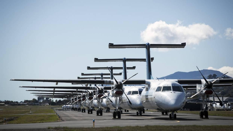 Air New Zealand terparkir di Bandara Nelson