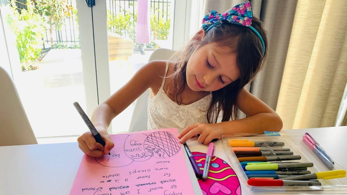 coronavirus kids write 'heartwarming' letters to auckland