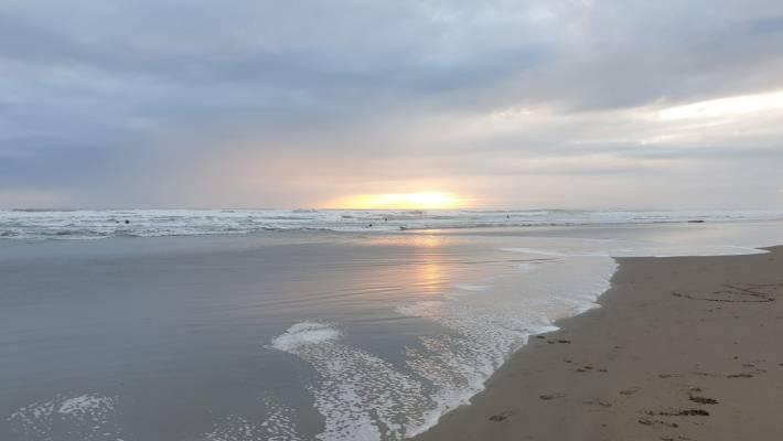 A West Coast winter sunset.