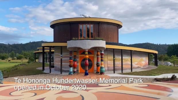 Inside Te Hononga Hundertwasser Memorial Park