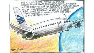 Tom Scott cartoon for April 20, 2021.