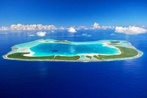 Tetiaroa island in French Polynesia.