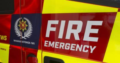Two fire crews are extinguishing a caravan fire in Hoon Hay, Christchurch. (File photo)