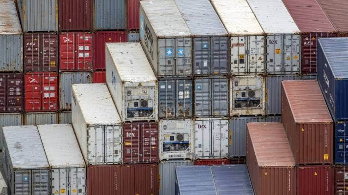 Ships have been diverted to other ports to relieve congestion in Auckland.