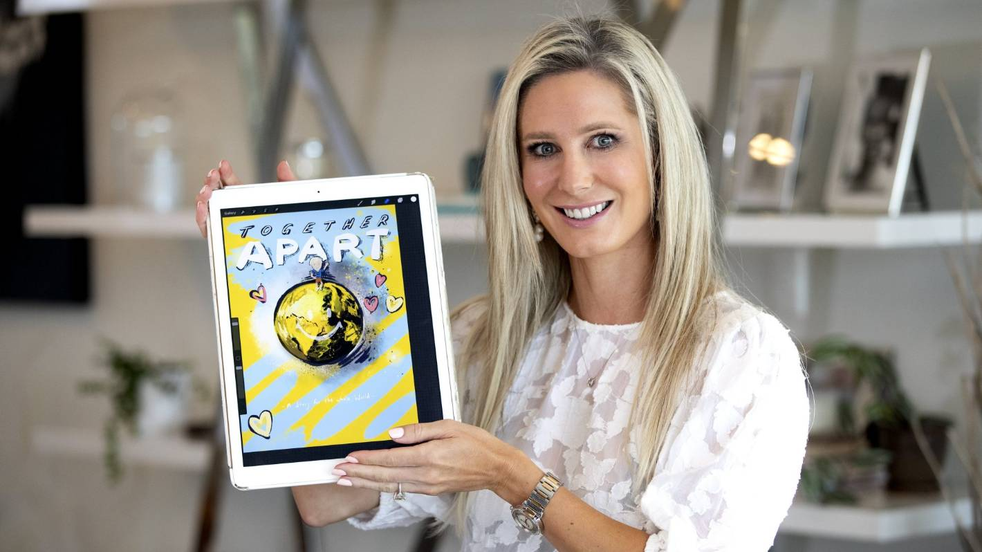 Designer creates children's e-book about coronavirus, with proceeds going to charity