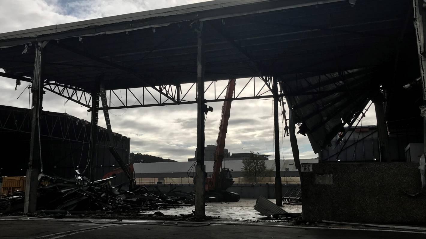 Timelapse shows demolition progress at Dunedin's old Cadbury warehouse