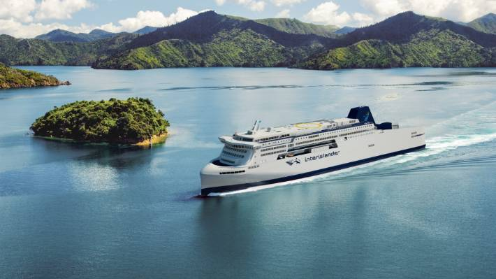 The concept design of the new ferry in the Marlborough Sounds.