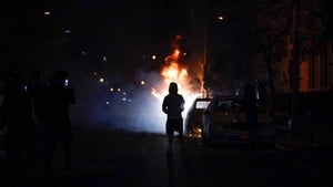 Third night of US protests