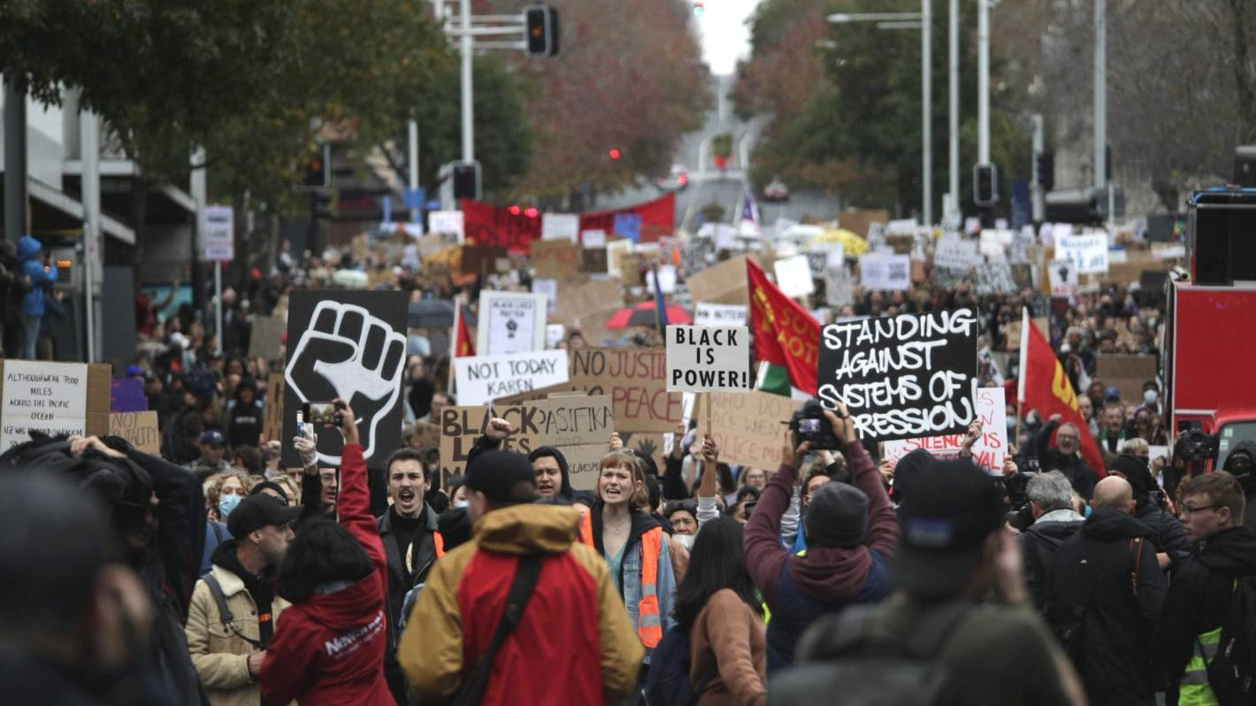 In pictures: Anti-racism demonstrations in Auckland, Christchurch and Wellington