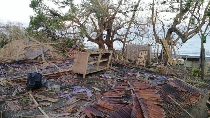 Homes in Espiritu Santo, in northern Vanuatu, were destroyed by Cyclone Harold in April.