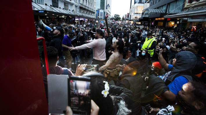 A Black Lives Matter protest was held in Auckland last week.