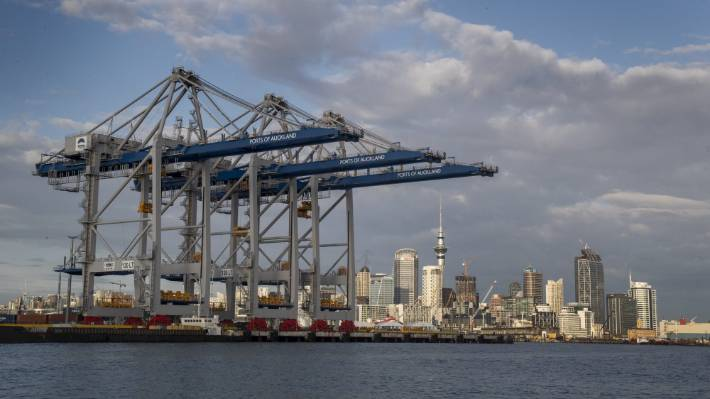 Posts of Auckland handles about one third of the nation's container trade and two million tonnes of general cargo (file photo).