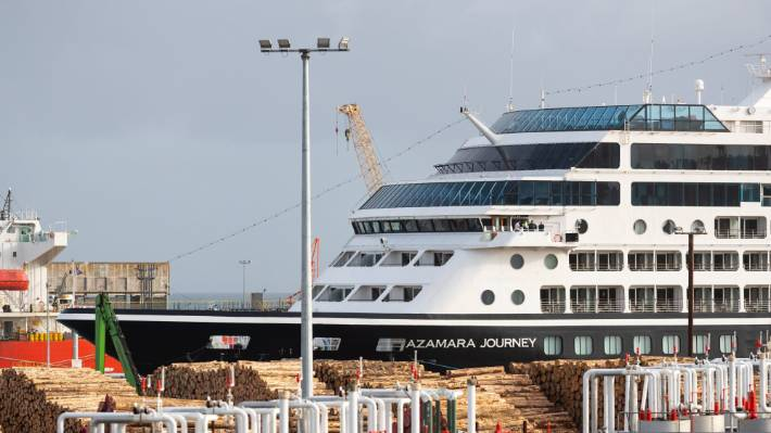 A rare cruise ship visit at Port Taranaki with the Azamera Journey calling at New Plymouth in February.