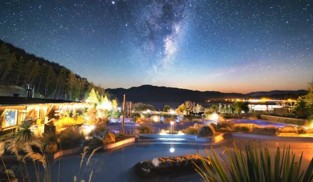 Tekapo Springs stargazing: lie in a hot spring hammock in the mountains and watch the Milky Way