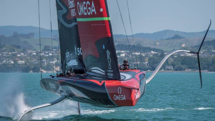 America's Cup: Team New Zealand roll out Te Aihe again as full scale  testing resumes | Stuff.co.nz