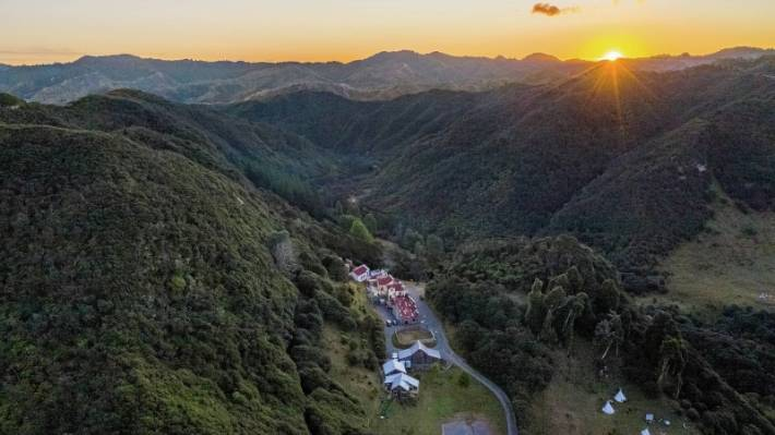 The Old West style retreat is nestled in the valleys at the edge of the Whanganui National Park.