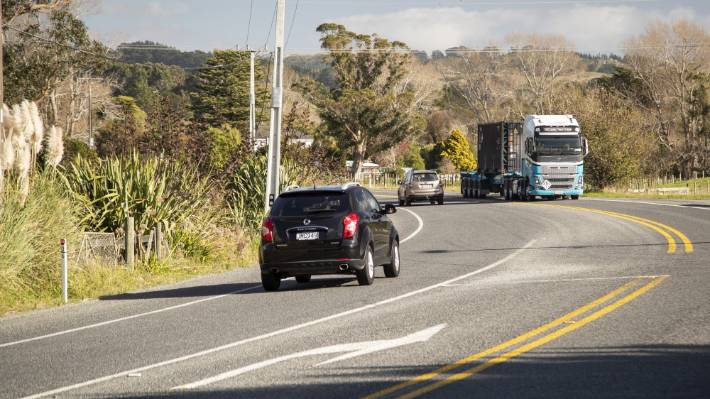 The National Road Carriers Association says 340,000 trucks and 27,000 freight trains will be needed to transport goods from Northland to Auckland if the ports move (file photo).