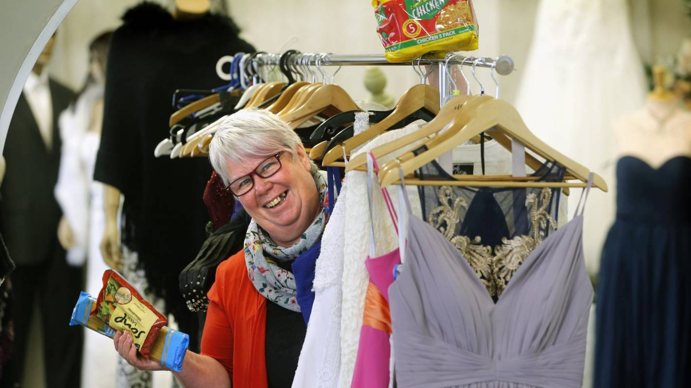 Waimate bridal shop owner swapping dresses for food