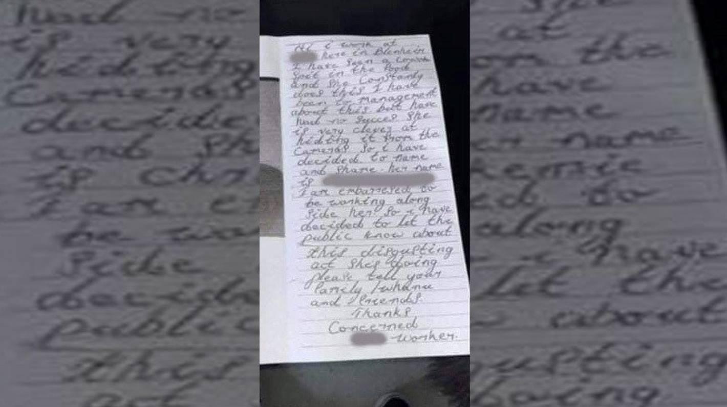 Police investigate smear campaign against Blenheim fast-food worker