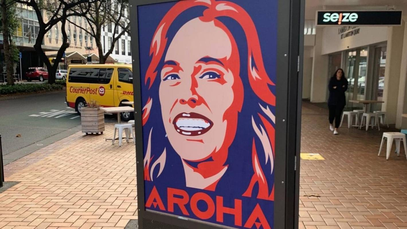 Weston Frizzell's 'Aroha' posters ruled to be adverts for Labour Party