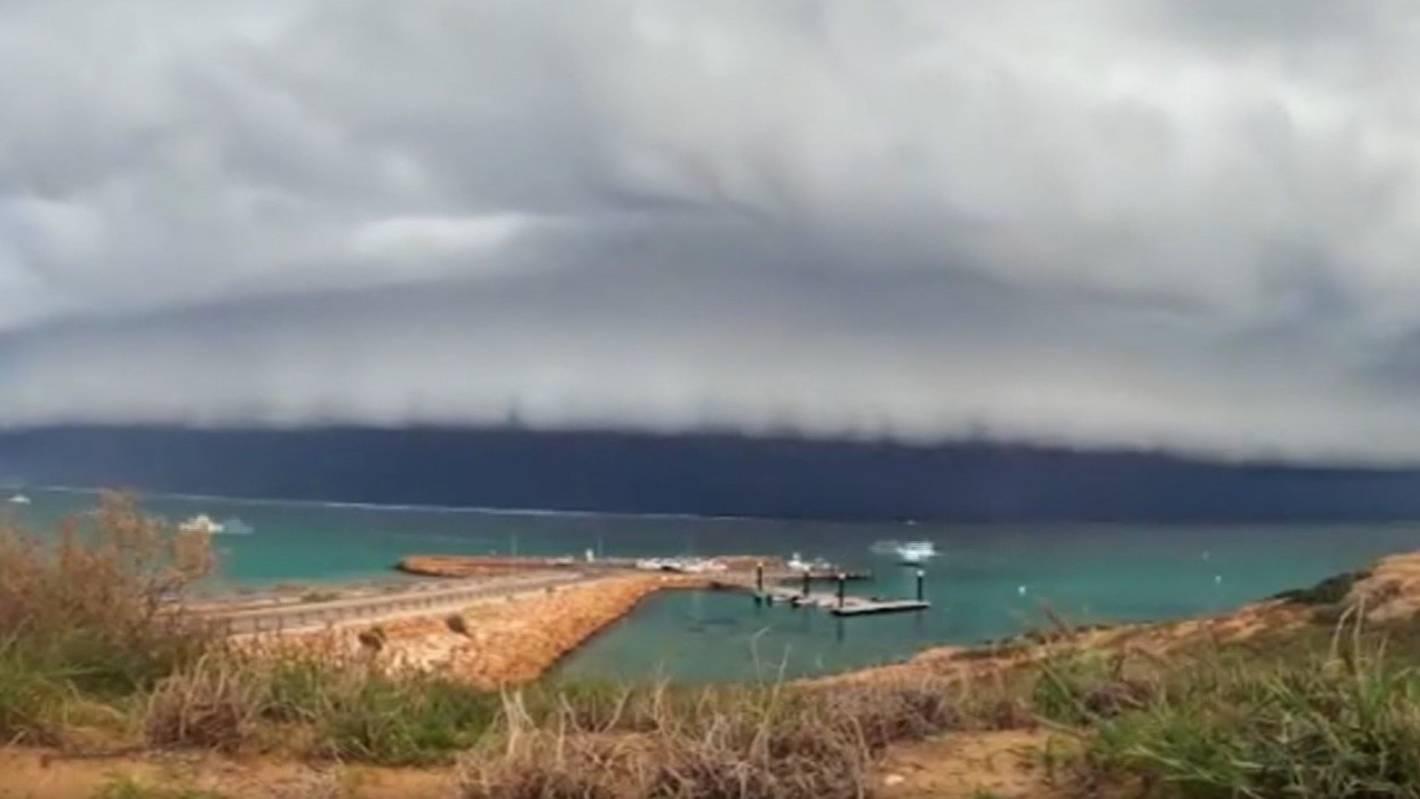 Timelapse video shows massive storm hit Australian beach